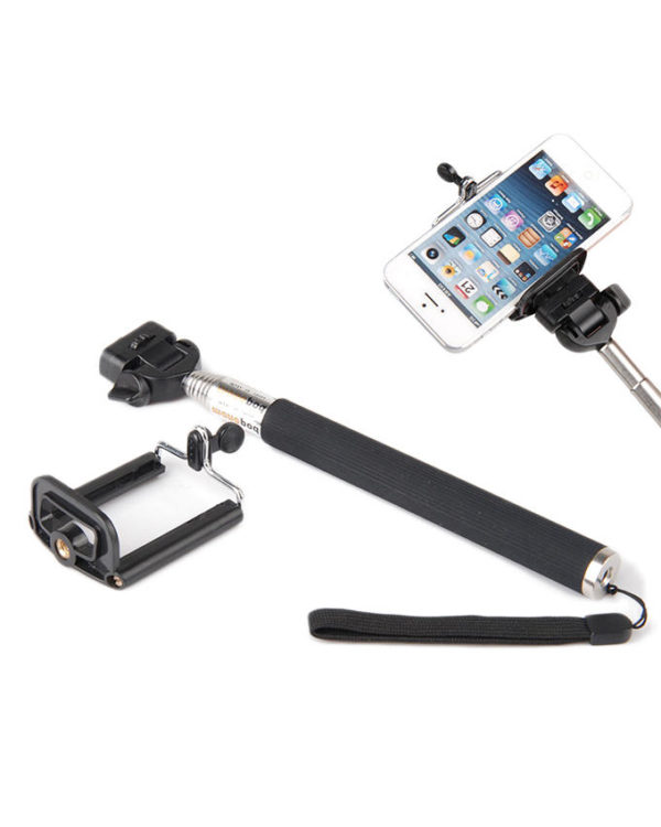 iGeek Selfie Stick with Bluetooth Shutter - Black