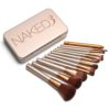 12 pcs/set New naked 3 makeup brushes maquiagen professional Cosmetic Facial Makeup Brush Kit set with nake 3 sack