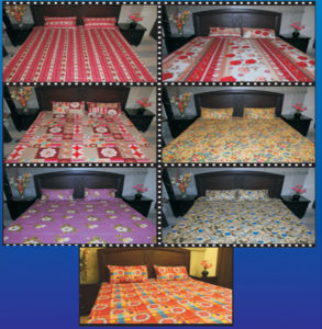 7 Designer Double Bed Sheets, 14 Designer Pillow Covers