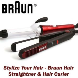 Braun Hair Straightner & Hair Curler - Stylize Your Hair
