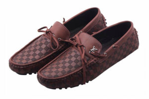 LOUIS VUITTON Chequered Design Brown color