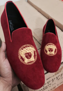 Versase Moccasins (Embroidery design) Red