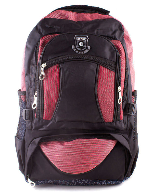 AR Center Black & Maroon Polyester Tattoo BCK Backpack For Women - ARBP-1119-BLK/M in Karachi