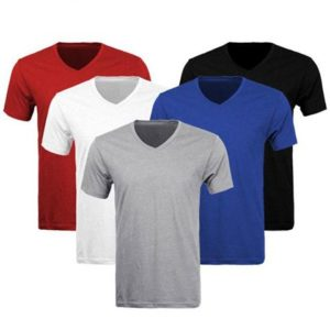 Pack of 5 V-Neck Half Sleeves T-shirts for Him